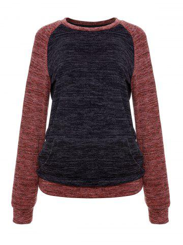 Constrasting Color Patch Pocket Sweater Knitwear T-Shirts