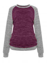 Constrasting Color Patch Pocket Sweater Knitwear T-Shirts -