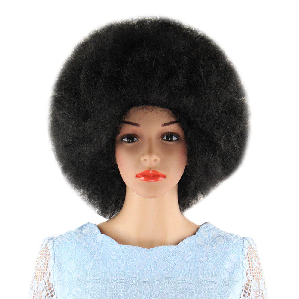 Short Black Wigs Inflated Fluffy Afro Hair For Window Models Cosplay Masquerade Party