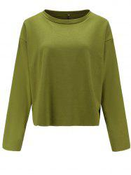 Womens Casual Round Neck  Sweatshirt  Long Sleeve Pullover Tops -