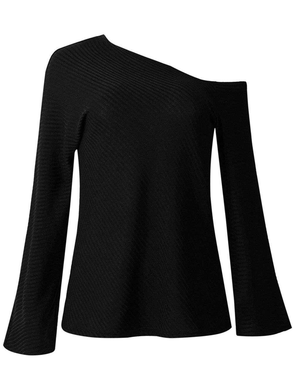 Buy Womens Fall  Winter Fashion Long-sleeved Off Shoulder Top Knitted Sweaters