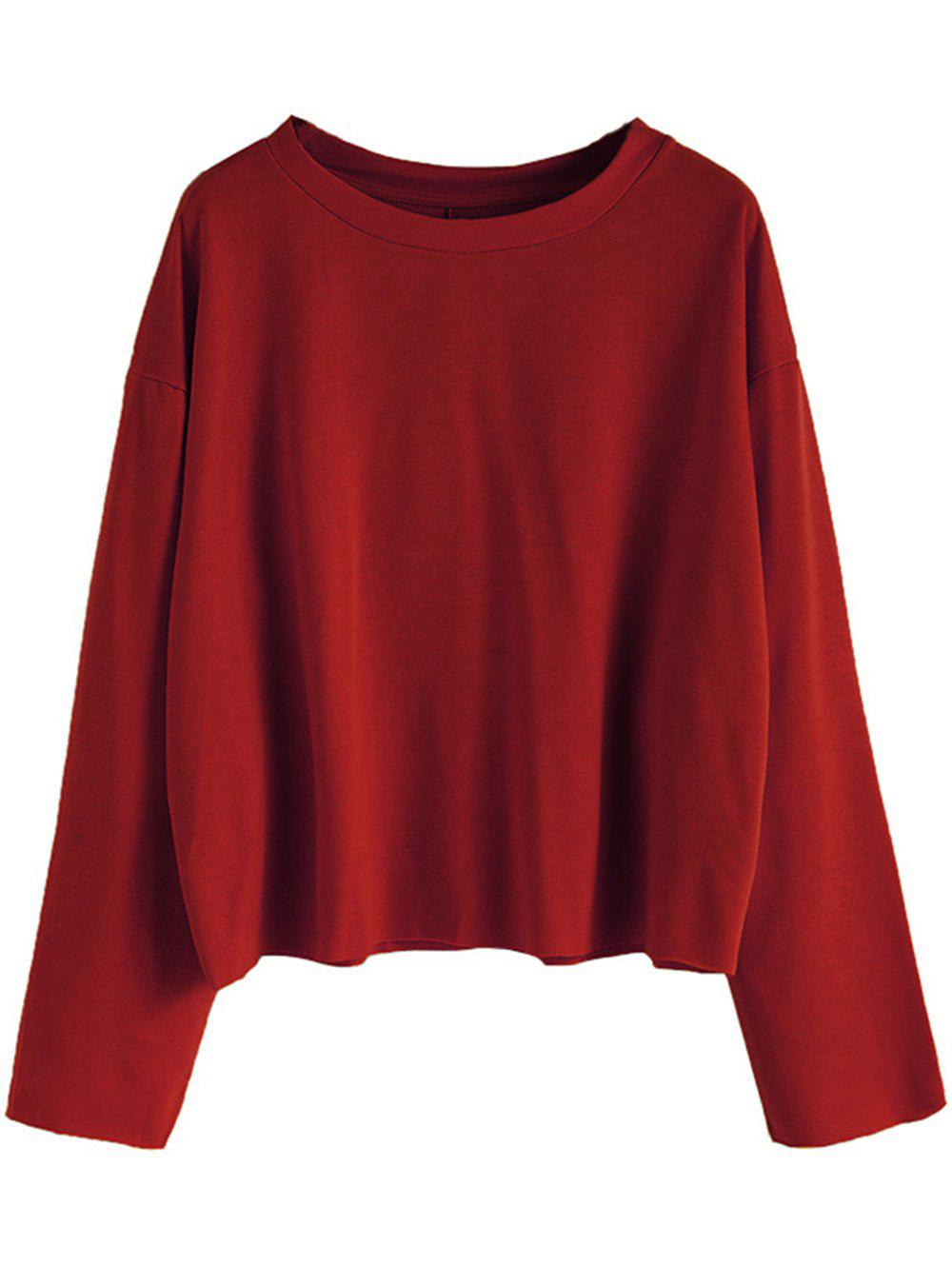 Hot Womens Casual Round Neck  Sweatshirt  Long Sleeve Pullover Tops