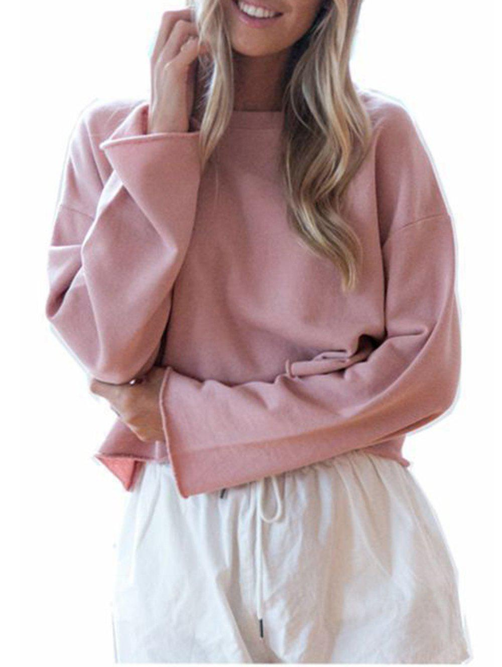 Chic Womens Casual Round Neck  Sweatshirt  Long Sleeve Pullover Tops