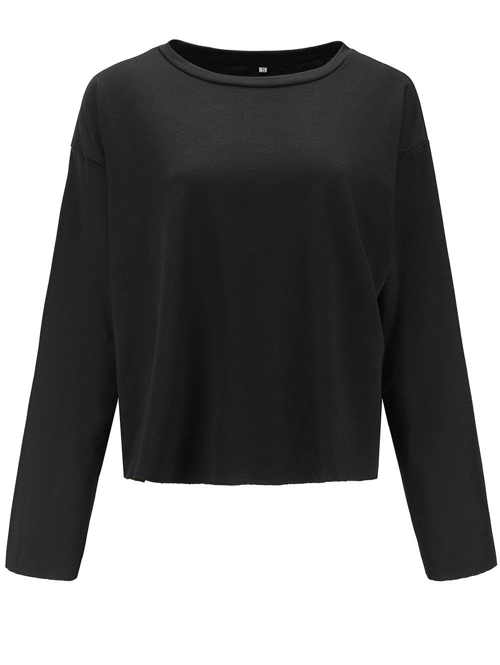 Fancy Womens Casual Round Neck  Sweatshirt  Long Sleeve Pullover Tops