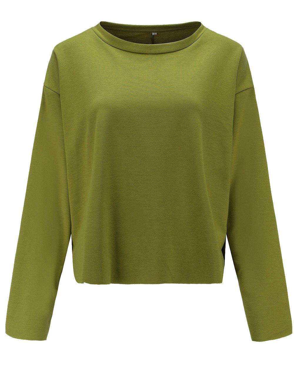 New Womens Casual Round Neck  Sweatshirt  Long Sleeve Pullover Tops