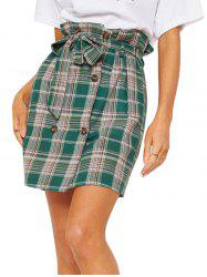 Womens Fashion comfortable  Pencil Skirt Side Pleated Skirts with Belt -