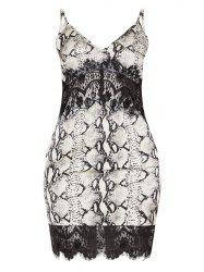 Womens Sexy  Lace Sling V-Neck  Dress -