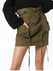 Womens Fashion  Skirts with Belt comfortable Pencil Skirt -
