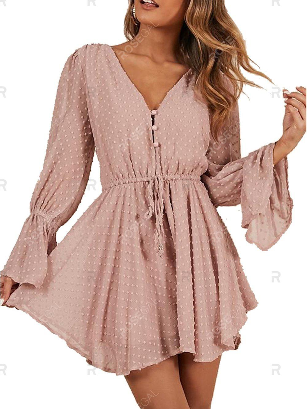 Affordable Womens Sexy V Neck Horn Sleeve Romper Short Jumpsuit