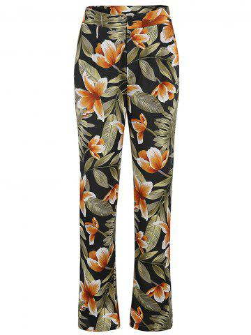 Women Floral Print High Waist Palazzo Wide Leg Boho Pants