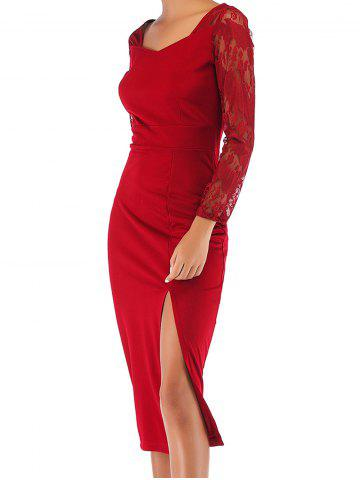 Womens Casual Long Sleeve Party Club Bodycon Sheath Midi Dress