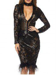 Women Sexy Sequin Lace Ball Dress Romantic Lace Beading Bridal Gown Wedding Dress Party Dress -