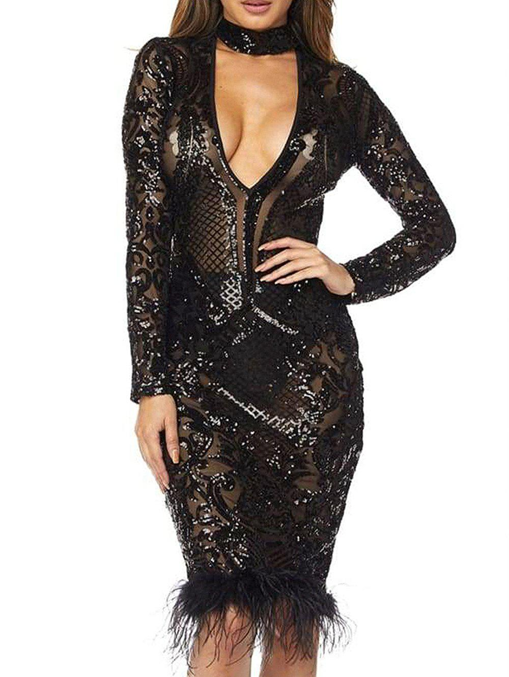 Latest Women Sexy Sequin Lace Ball Dress Romantic Lace Beading Bridal Gown Wedding Dress Party Dress