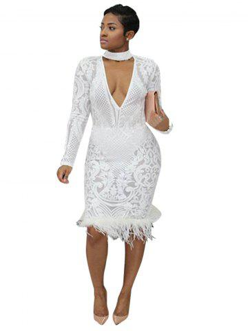 Women Sexy Sequin Lace Ball Dress Romantic Lace Beading Bridal Gown Wedding Dress Party Dress