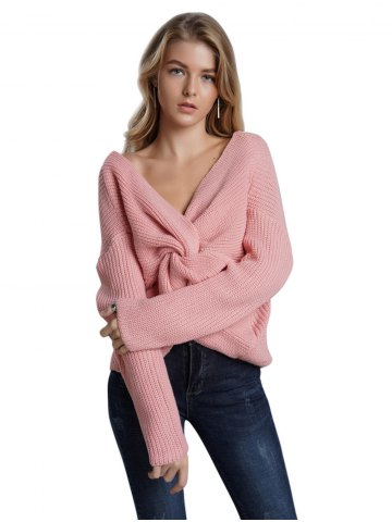 Backless sexy  crossover design  Sweaters