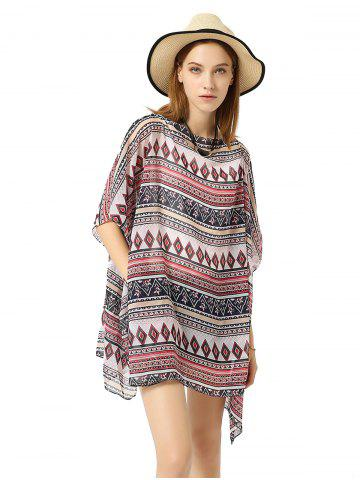 Hooded Chiffon Loose Beach Bikini Blouse