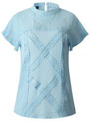 2019 New Womens Fashion lace Short Sleeve T-Shirt Tops -