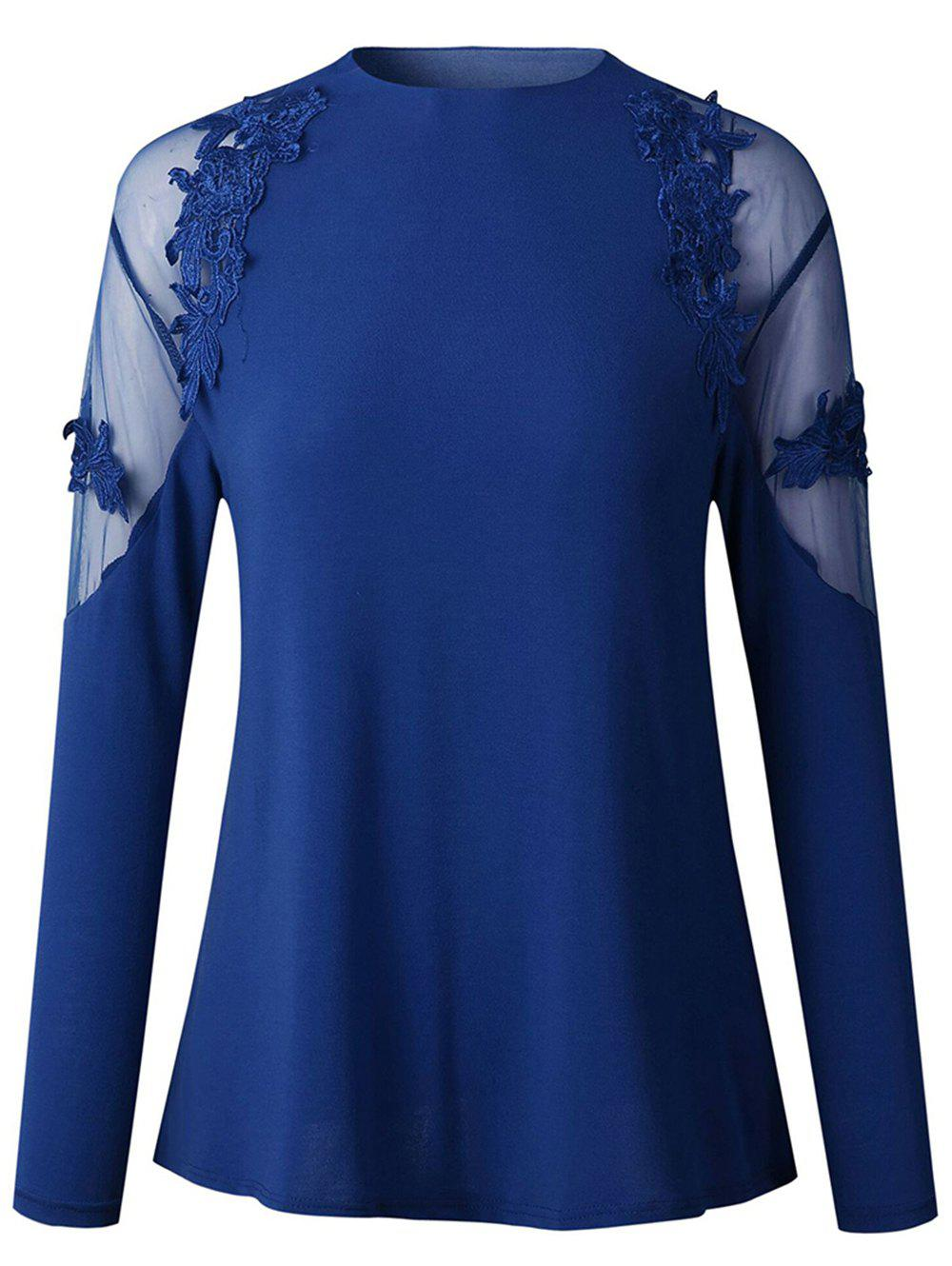 Shop 2019 New Womens Fashion lace Long Sleeve Shirt  Tops