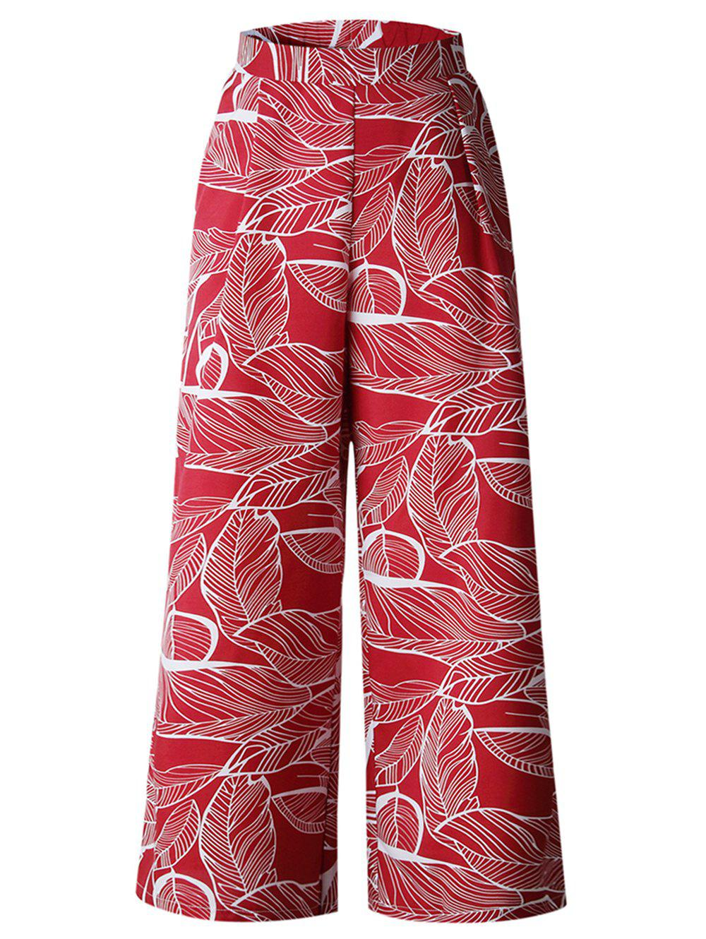 Store Womens Casual Floral Print High Waist Wide Leg Long Palazzo Pants with Pockets