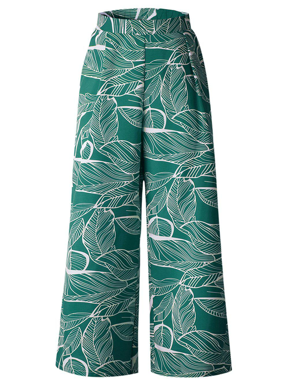 Latest Womens Casual Floral Print High Waist Wide Leg Long Palazzo Pants with Pockets