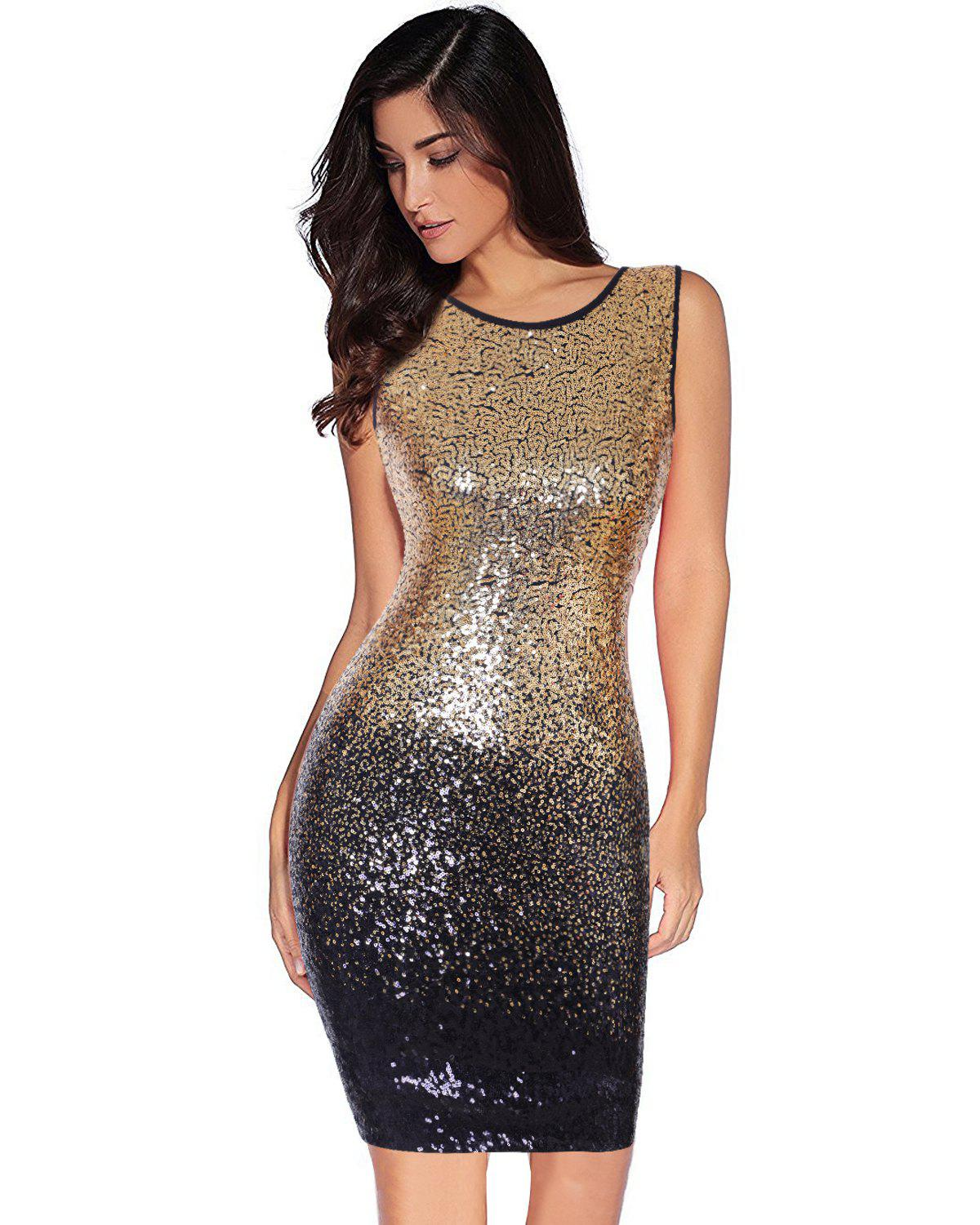 31e75b7d Best Women's Sexy Backless Sequin Glitter Bodycon Stretchy Club Mini Party  Dress