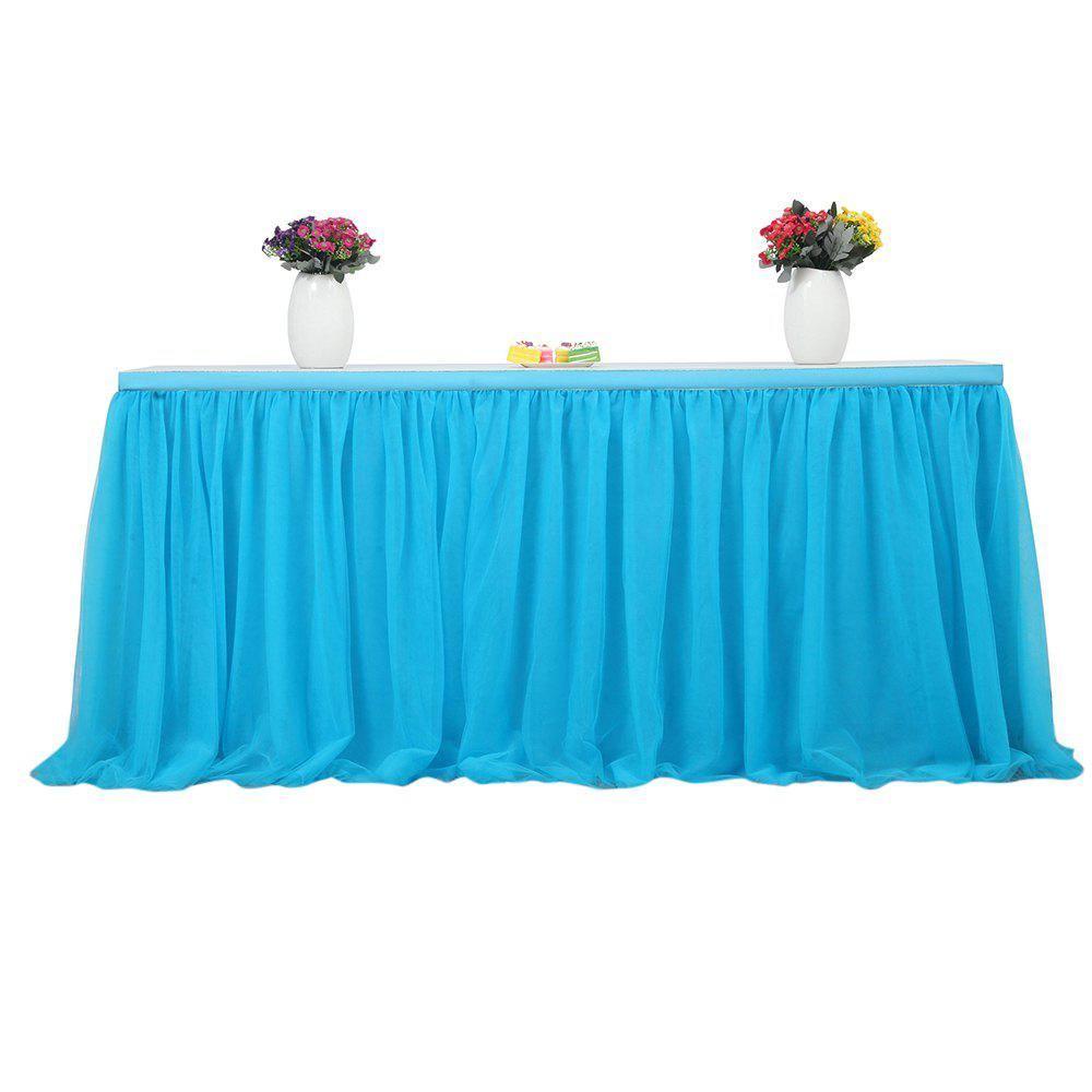 Tutu Tulle Table Skirts Cloth for Party Wedding Home Decoration Bleu