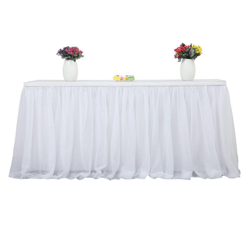 Tutu Tulle Table Skirts Cloth for Party Wedding Home Decoration
