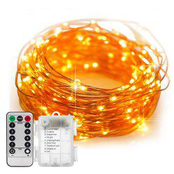 5M/10M 100 Led Fairy Lights 8 Flashing Modes Battery Operated With Remote Control Timer Waterproof Copper Wire Twinkle String Lights For Bedroom Indoor Christmas Decoration - Blanc Chaud 5m 50Led