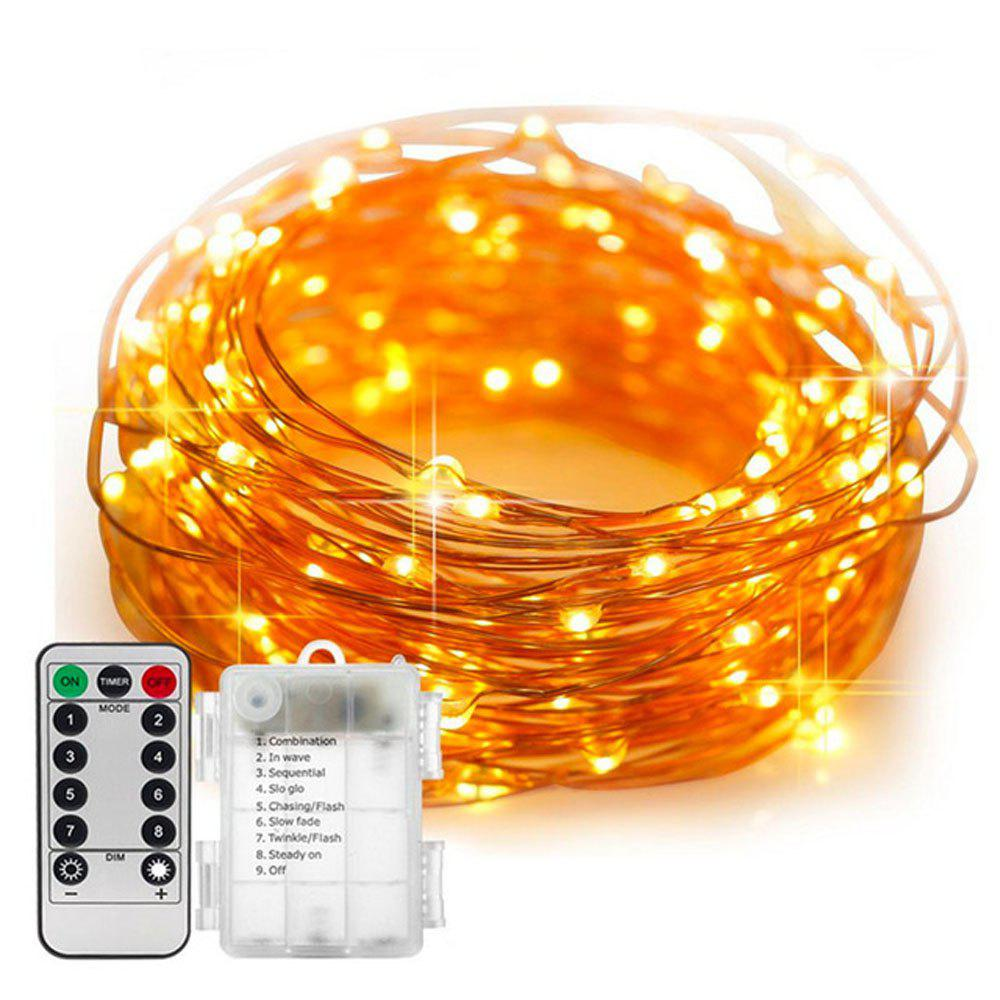 5M/10M 100 Led Fairy Lights 8 Flashing Modes Battery Operated With Remote Control Timer Waterproof Copper Wire Twinkle String Lights For Bedroom Indoor Christmas Decoration Blanc Chaud 5m 50Led