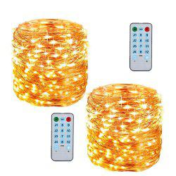 12 Mode Adjustment Music  Sound Activated Twinkle Lights with Remote Control Waterproof for Dorm Wall Party Curtain Decorations Christmas Copper Light String - Тёплый белый 5 м