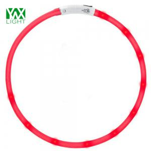 YWXLight LED USB Rechargeable Luminous Dog Collar - RED
