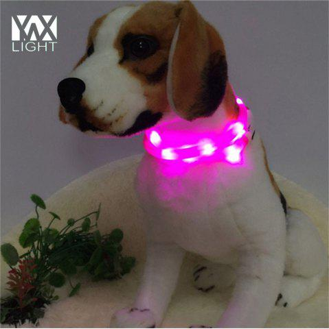 Fashion YWXLight LED USB Rechargeable Luminous Dog Collar PINK