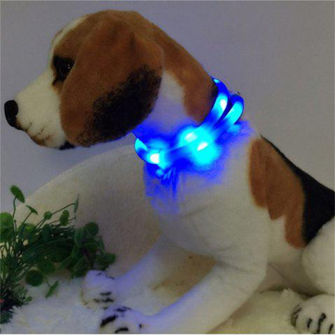 Discount YWXLight LED USB Rechargeable Luminous Dog Collar BLUE