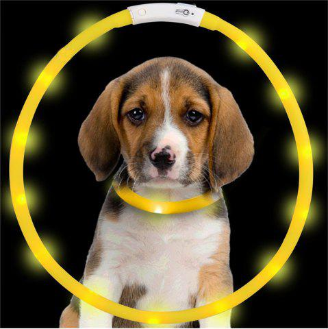 Discount YWXLight LED USB Rechargeable Luminous Dog Collar - YELLOW  Mobile