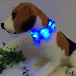 YWXLight LED USB Rechargeable Luminous Dog Collar - BLUE
