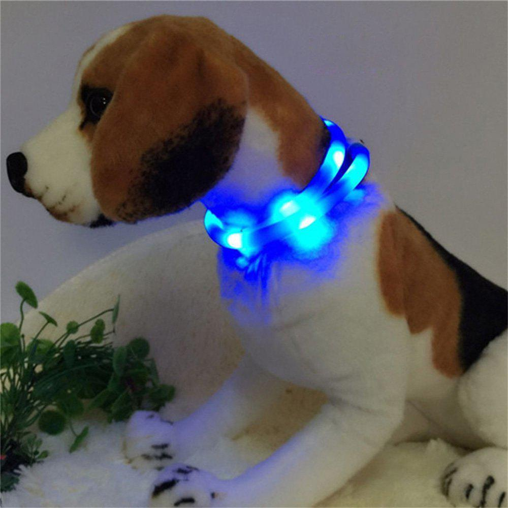 YWXLight LED USB Rechargeable Luminous Dog CollarHOME<br><br>Color: BLUE; Holder: Wired; Output Power: 3W; Voltage (V): DC 5V; Luminous Flux: 200-300 LM; Lifespan: ?30000 Hours; Features: Easy to use,Energy Saving; Function: Home Lighting; Available Light Color: Blue,Green,Orange,Pink,Red,White,Yellow; Sheathing Material: Silicone;