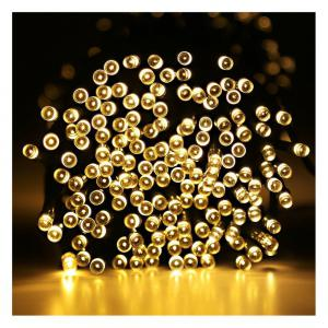 YWXLight 12M Waterproof Solar String Light for Outdoor Christmas Party Decoration -