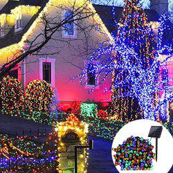 YWXLight 12M Waterproof Solar String Light for Outdoor Christmas Party Decoration - Rgb