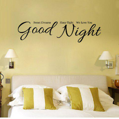Fashion YEDUO Good Night Sweet Dreams Romantic Bedroom Wallstickers Living  Room Decals