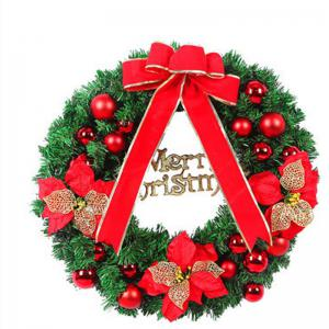 MCYH 1PC 40cm Christmas Wreath with Bow Door Drop Room Ornaments Decor -