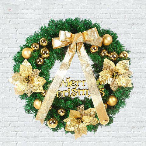 Outfits MCYH 1PC 40cm Christmas Wreath with Bow Door Drop Room Ornaments Decor - MARIGOLD  Mobile