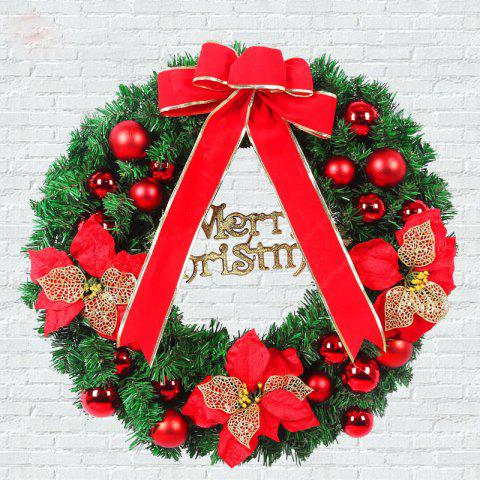 New MCYH 1PC 40cm Christmas Wreath with Bow Door Drop Room Ornaments Decor