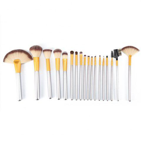 Unique TODO 18pcs Professional Champagne Gold Makeup Brush Aluminium Handle