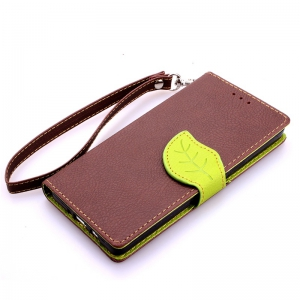 Love Leaf Card Lanyard Pu Leather for Samsung A3 -