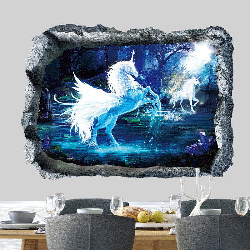 Home Decoration 3D Unicorn Removable Wall Stickers for DecorHOME<br><br>Color: COLORMIX; Type: 3D Wall Sticker; Subjects: Fashion,Animal,3D; Art Style: Plane Wall Stickers; Function: Decorative Wall Sticker; Material: Vinyl(PVC); Suitable Space: Living Room,Bathroom,Bedroom,Dining Room,Office,Hotel,Cafes,Kids Room,Kids Room,Boys Room,Girls Room; Quantity: 1;