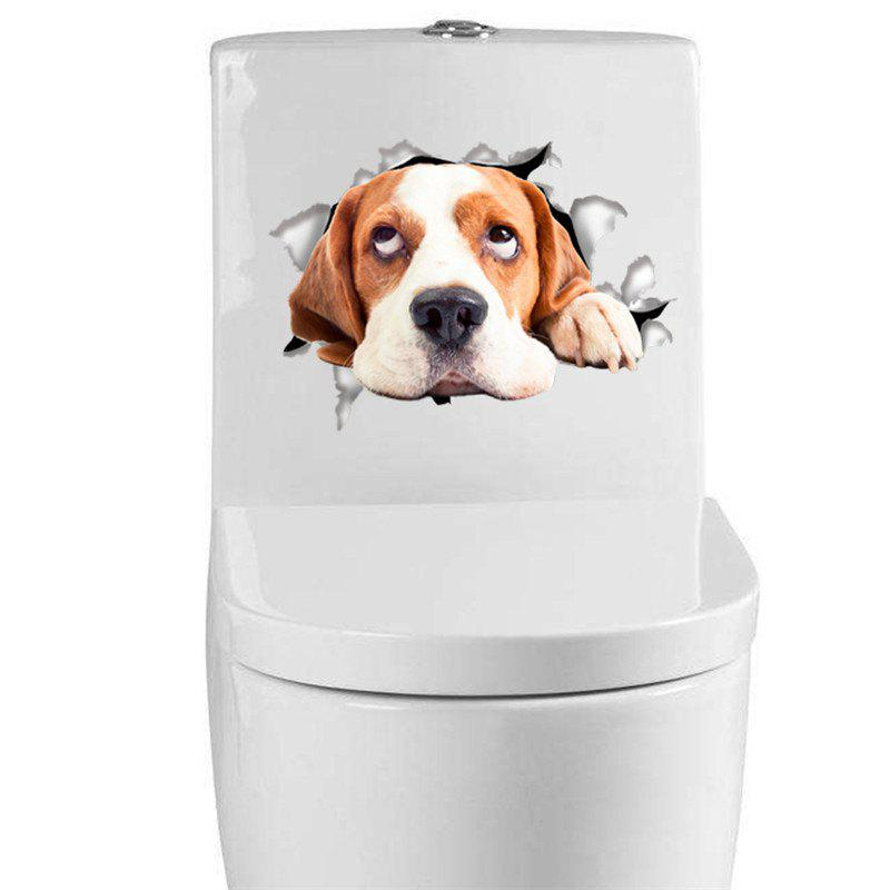 Home Decoration Cute Puppy Removable Toilet Wall StickersHOME<br><br>Color: BROWN; Type: Plane Wall Sticker; Subjects: Animal; Art Style: Closestool Stickers; Function: Decorative Wall Sticker,Toilet Sticker; Material: Vinyl(PVC); Suitable Space: Bathroom; Quantity: 1;