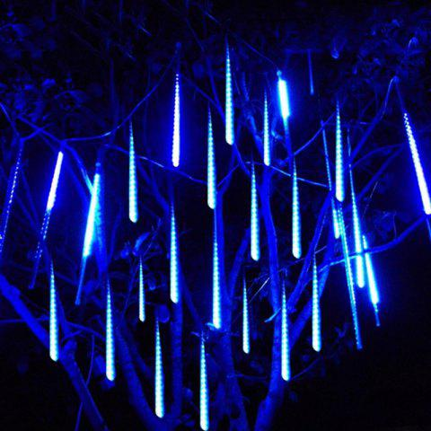 Fancy KWB  Meteor Lights 50CM Snow White  Meteor Shower Rain Lights Waterproof Xmas Decoration Light Falling String Lights - EU PLUG BLUE Mobile