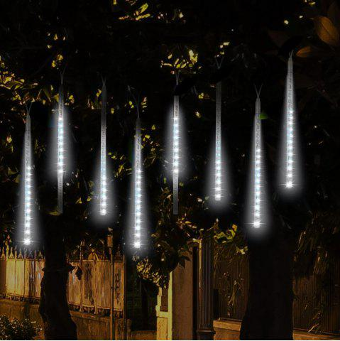 Fancy KWB  Meteor Lights 50CM Snow White  Meteor Shower Rain Lights Waterproof Xmas Decoration Light Falling String Lights WHITE US PLUG