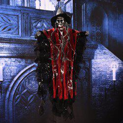 MCYH Large Halloween Skull Hanging Ghosts Horror Props Decoration - Red