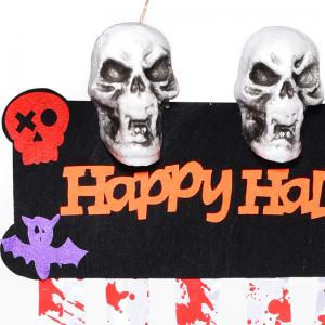 MCYH Halloween Ornaments Skull Scarlet Decoration Ghost Festival Bar Dress Up Props -